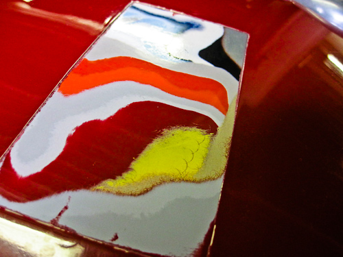 Ferrari 750 Monza paint detail