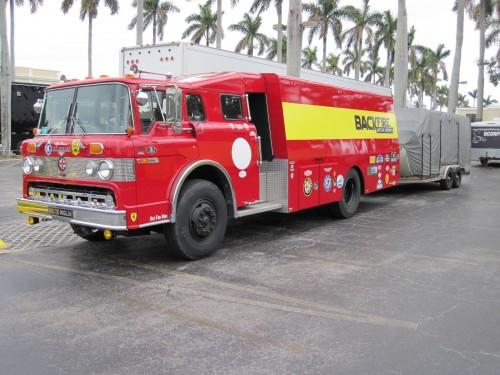 Fire truck car hauler