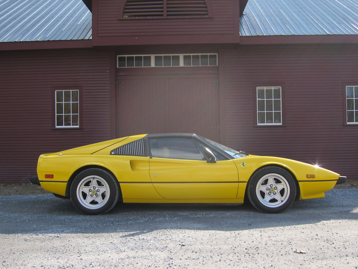 Yellow 1979 Ferrari 308 GTS