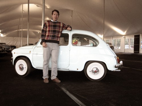 Me with the diminutive Fiat 600 that we bought.