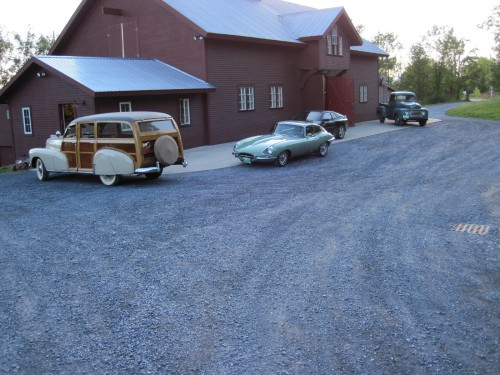 Ford and Jags with a 1948 Chevy Woodie