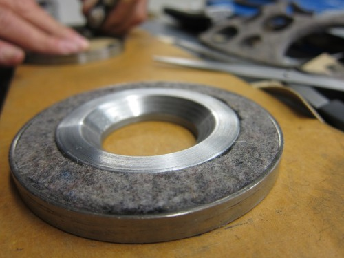 Wool felt front wheel seal