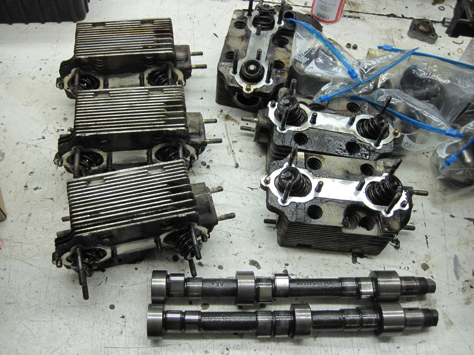 Early 911 Porsche engine apart