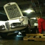Adjusting the drum brakes on a late 50's Alfa