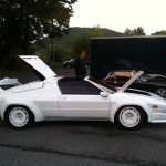 Spaced out, this rocket will take you to the moon. Lambo Jalpa