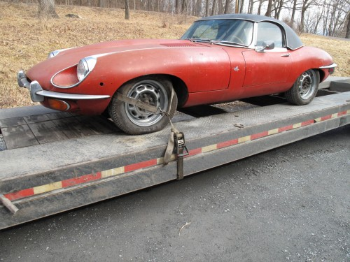 Delivering an XKE Jaguar