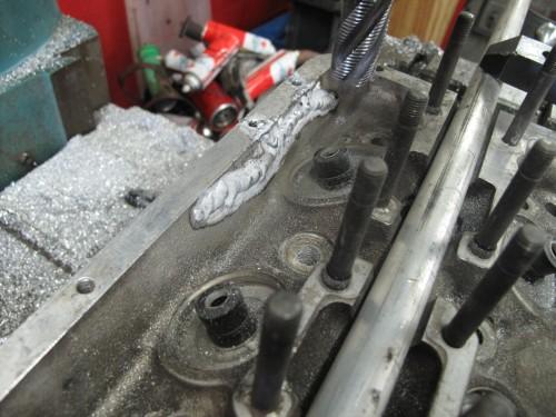 Cylinder head repair on Ferrari V-12