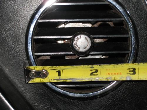 A/C vent for Ferrari 330
