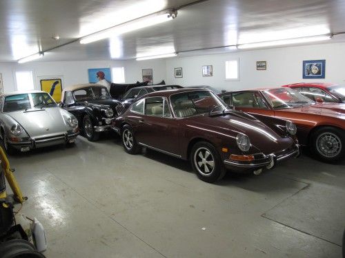 1968 Porsche 912 in the shop