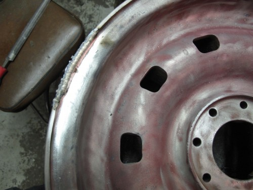 Ferrari Mag Wheel Welded and repaired