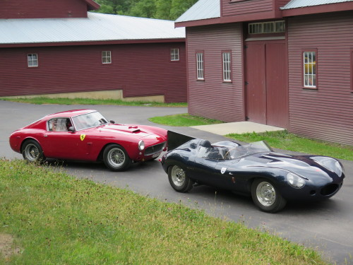 Ferrari and Jaguar Competition cars