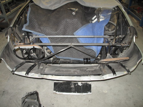 Repair to the front of a Ferrari Daytona