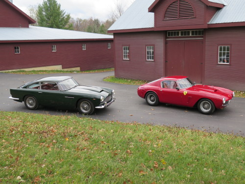 Aston Martin and Ferrari 1961