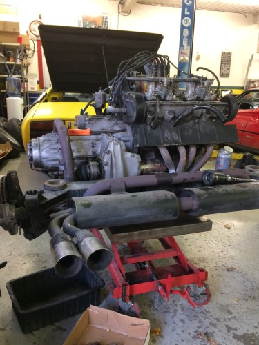 Lamborghini Urraco Engine Out Belt Service